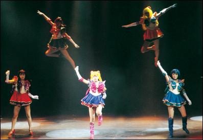 Cena do musical Henshin de 1995
