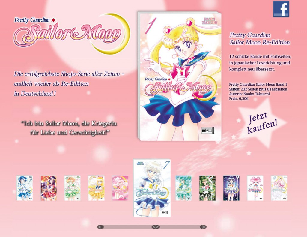 Site do mangá de Sailor Moon na Alemanha